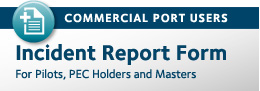 Commercial Port Users - Incident Report Form